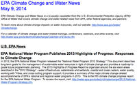 EPA Climate Change and Water News May 9, 2014