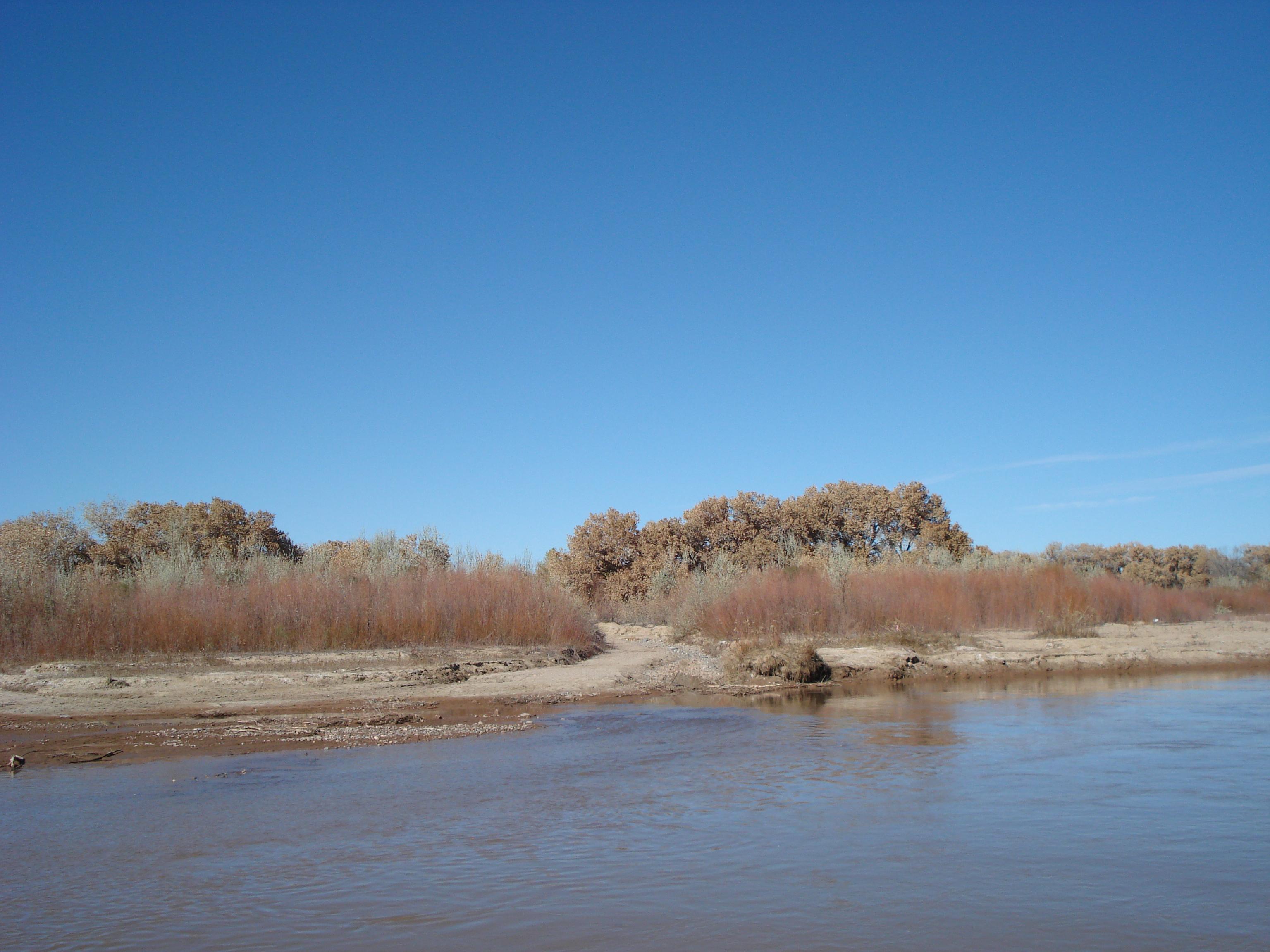 Calabacillas at confluence with Rio Grande